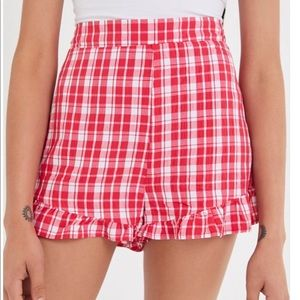 Urban Outfitters High Rise Ruffle Short